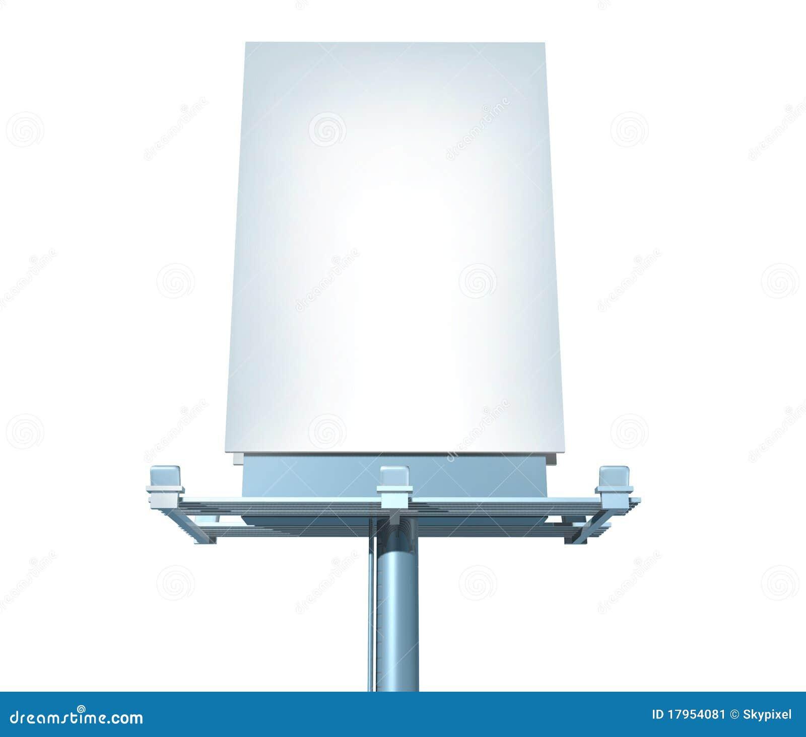 Billboard Vertical Angled Outdoor Display Stock Image - Image ...