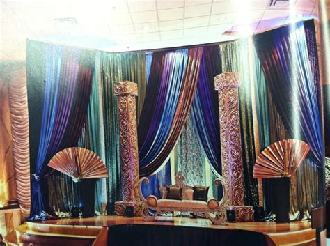 Peacock themed stage decoration   Wedding Ideas