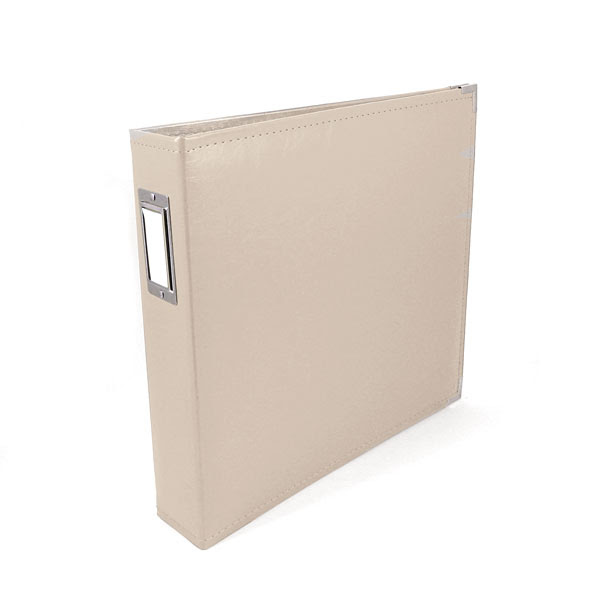 We R Memory Keepers 12x12 Classic Leather Ring Album - Greige