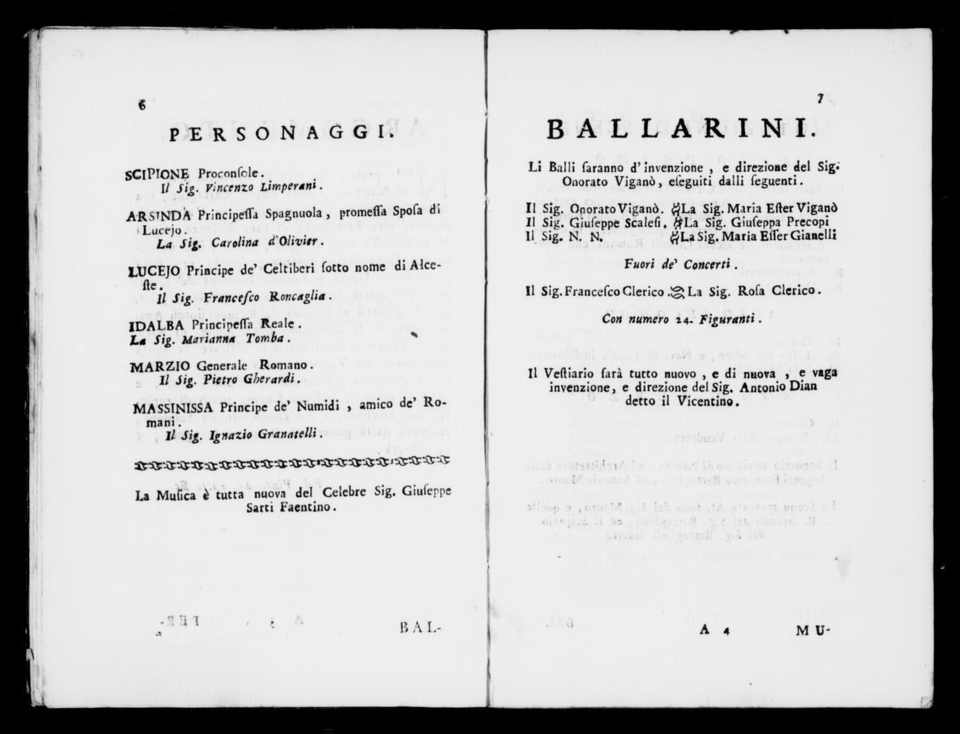 Albert Schatz Collection Pastorella Impertinente Ballo 1778