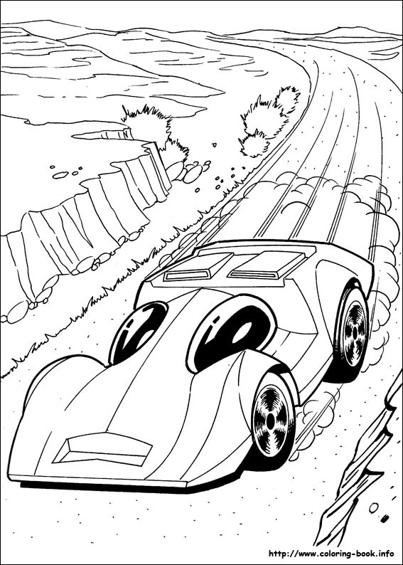 Hot Wheels: Team Hot Wheels Coloring Pages