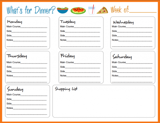 1000+ images about Menu planners - including lots of free ...