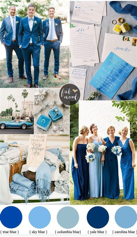 Blue color wedding theme for a stunning rustic beach