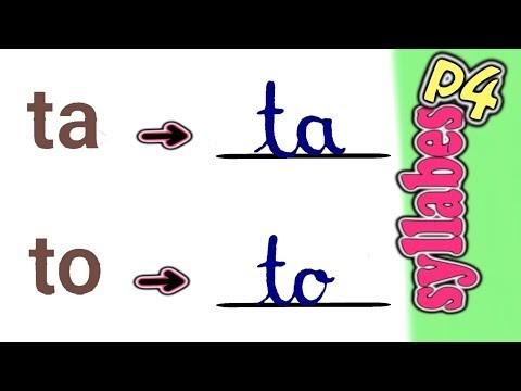 تعليم كتابة حروف الفرنسية(ج5)،كتابة المقاطع اللفظية(Les syllabes:part 4)