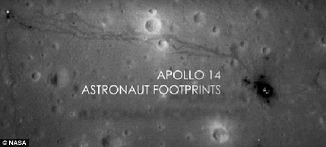 Step to it: The Apollo 14 astronaut footprints leave a distinct trail