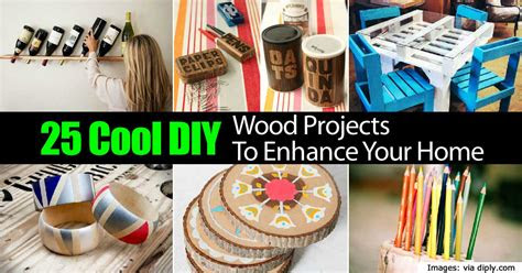 cool diy wood projects  enhance  home