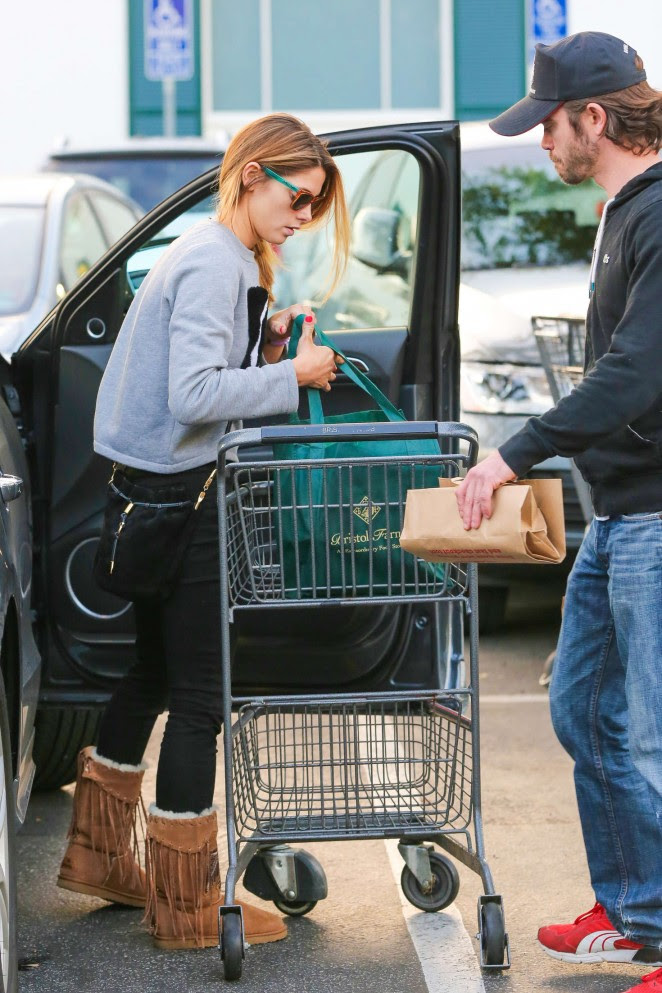 Ashley Greene in Tights at Bristol Farms -22
