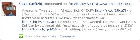 Facebook Comment on Techcrunch on Facebook
