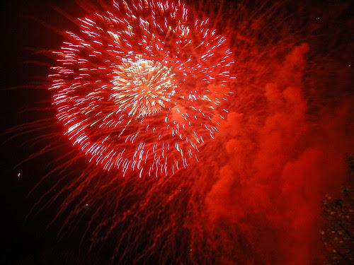 Fogos artificiais no San Froilán