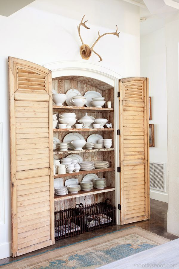 Atchison Home | Kitchen | Shutters | China Cabinet | Ironstone
