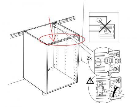 Mur Fixation Fixation Au Armoire Au Ikea Armoire Ikea jRA534L
