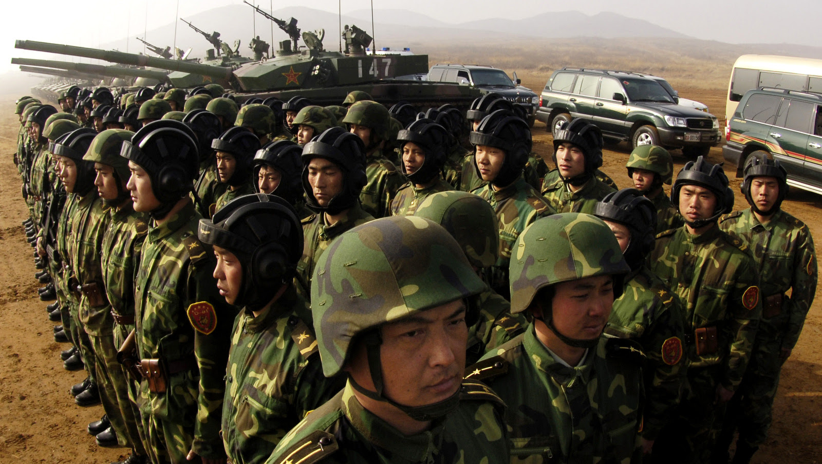 Soldiers with the People's Liberation Army at Shenyang training base in China, March 24, 2007. DoD photo by Staff Sgt. D. Myles Cullen, U.S. Air Force. (Released)
