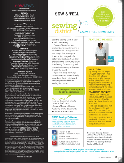 sew news featured member