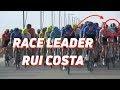 Vídeo del duro accidente provocado por un empujón de Rui Costa en el Saudi Tour 2020