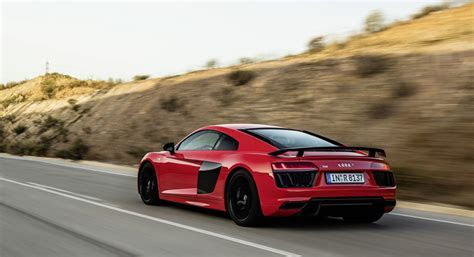 audi r8 v10 plus red road   HD Desktop Wallpapers   4k HD