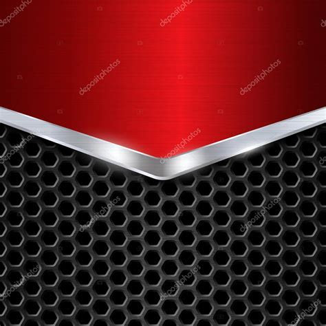 Metal background. Red Chrome. Metal grid. Honeycomb
