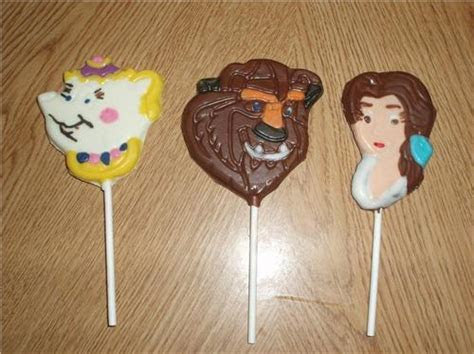 Beauty and the Beast Chocolate Lollipops Birthday Party