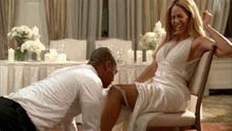 Superstar Beyonce looks stunning as she dons wedding dress
