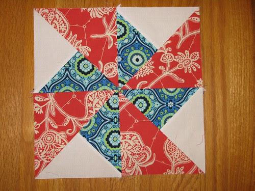 Sew. Happy. Quilt. QAL pinwheel