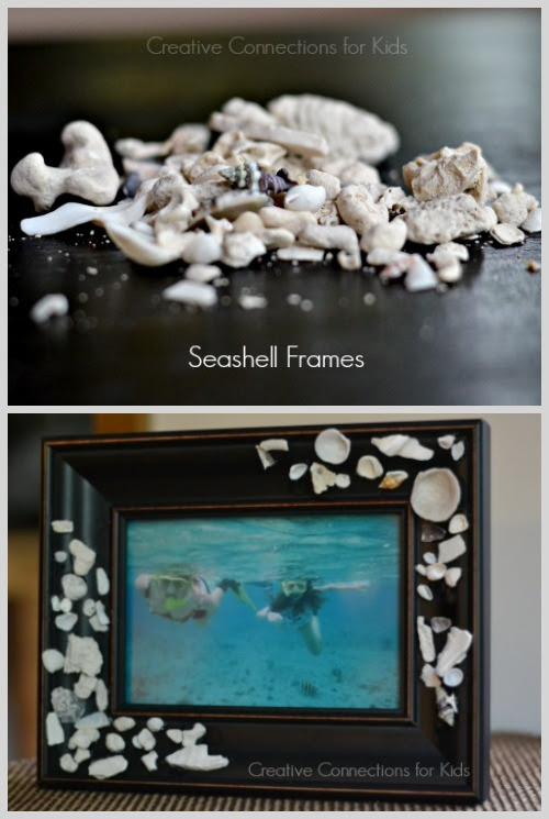 Diy Seashell Picture Frame Use Those Shells