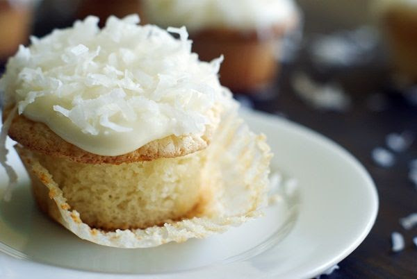 Key Lime-filled Coconut Cupcakes