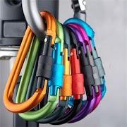 Купить Недорого 5 шт 8 мм безопасность на открытом воздухе крюк с винтом блокировки Пряжка для рюкзака висячий замок инструмент карабин из алюминиевого спла... Price H2 Best Купить