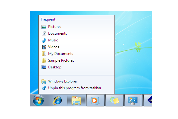 windows 7 barra de tarefas