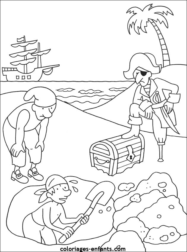 Les Coloriages De Pirates à Imprimer Az Coloriage