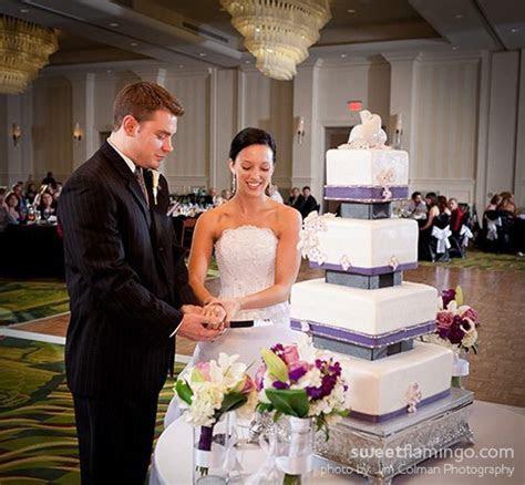 White Wedding: Trimmed in Plum, Pewter & Black   Sweet