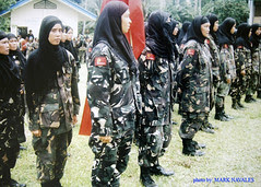 Members of MNLF Bangsamoro Women Auxillary Brigade in Panamao, Sulu Southern Philippines