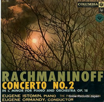 ISTOMIN, EUGENE rachmaninoff; concerto no.2 in c minor for piano and orchestra op.18