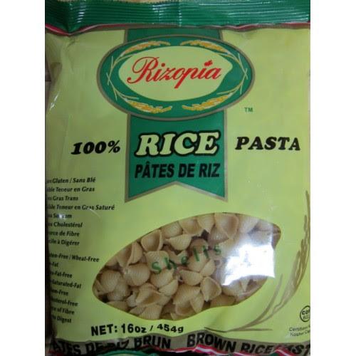 Pasta - Rizopia Brand - Gluten Free - Shells Pasta - Brown ...