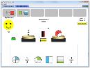 Screenshot of the simulation Fraction Matcher
