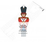 Toy Soldier 8ft tall Yard Art Woodworking Pattern - fee plans from WoodworkersWorkshop® Online Store - toy soliders,Christmas,yard art,painting wood crafts,scrollsawing patterns,drawings,plywood,plywoodworking plans,woodworkers projects,workshop blueprints