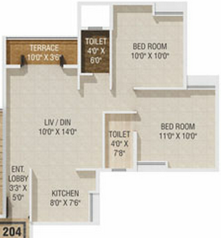 2 BHK Flat in Gagan Akanksha Prayagdham - 605 Carpet - 2nd to 7th Floors - Rs. 20,00,335 + 75,000 Parking +16,800 Advance Maintenance of 24 Months + 40,000 Corpus fund