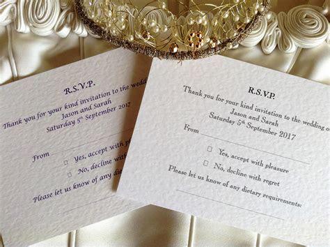 RSVP Postcard   Wedding Stationery