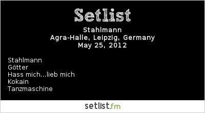 Stahlmann Setlist Wave Gotik Treffen 2012 2012