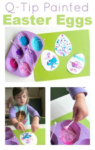 Easy Easter Craft for Toddlers { This combines a lesson in tinting and great fine motor development while having fun!}