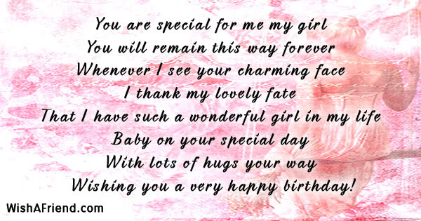 You Are Special For Me My Girlfriend Birthday Message
