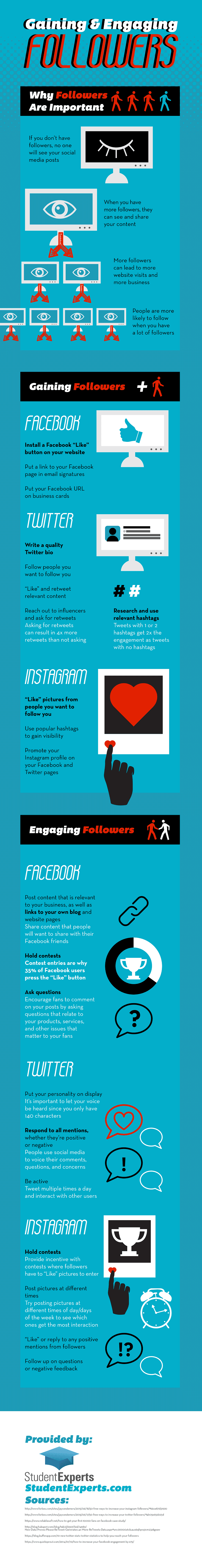 Gaining and Engaging Followers on Social Media – Infographic