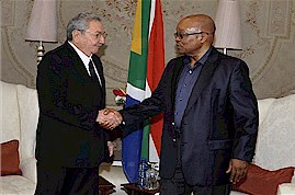 Republic of Cuba President Raul Castro with Republic of South Africa President Jacob Zuma during the days of national mourning for former South African President Nelson Mandela. by Pan-African News Wire File Photos