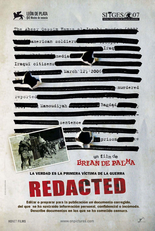 Risultati immagini per redacted poster