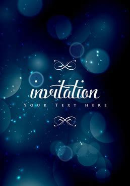 Invitation background designs royal blue free vector