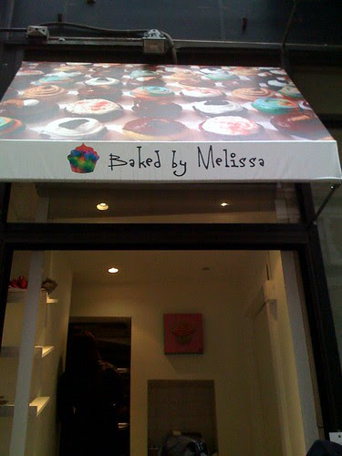 Baked by Melissa mini cupcake window at Cafe Bari