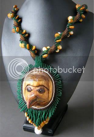 West Coast Woman Beadwork Necklace