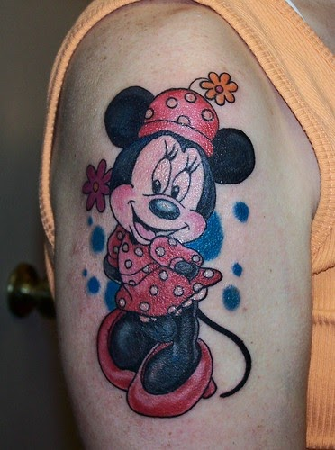 Minnie Mouse Tattoo With Name
