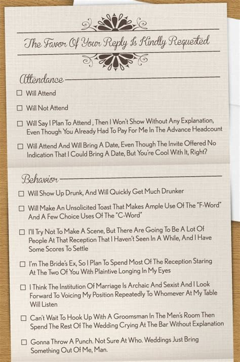 Funny RSVP: The Invitation You Wish You Could Send (PHOTO