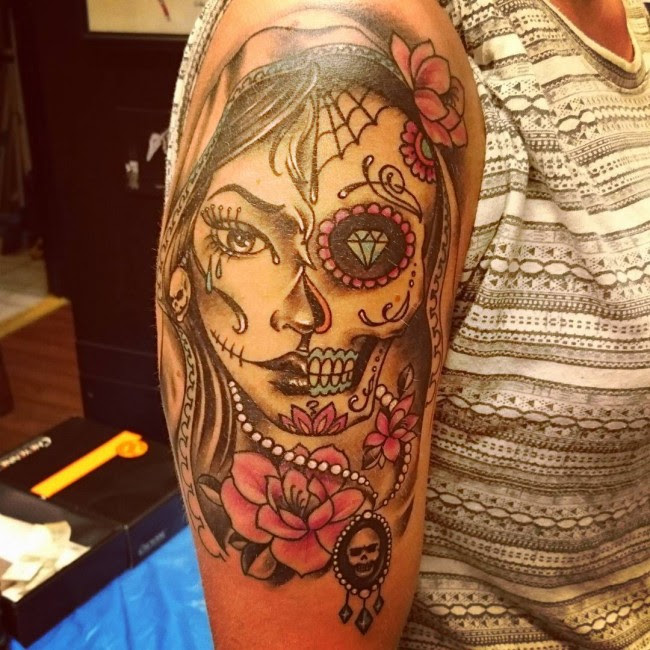 90 Best Day Of The Dead Tattoos Designs Meanings 2019