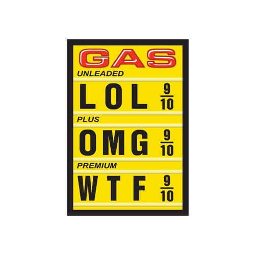 Gas Sticker