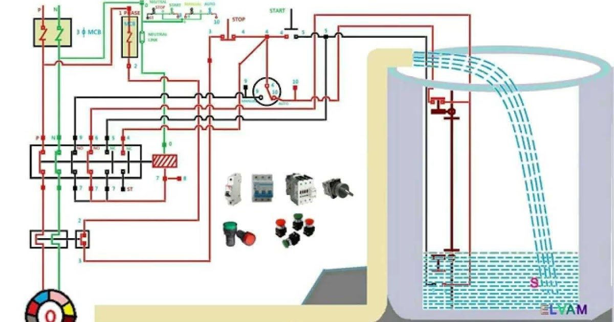Single Phase Submersible Motor Starter Wiring Diagram Pdf